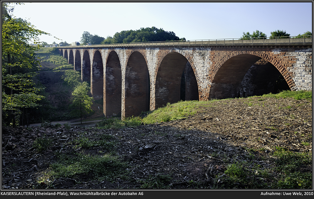 Dokumente: KAISERSLAUTERN, historische Autobahnbrücke über das Waschmühltal