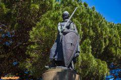 Dom Afonso Henriques Statue Castelo Sao Jorge Lisboa