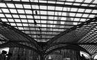 Dom durchs Dach des Kölner Hbf's 1998