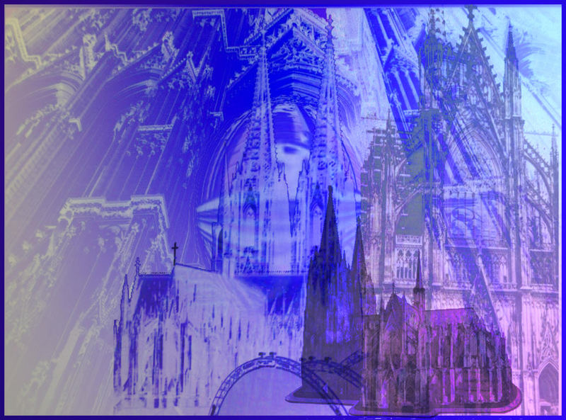 Dom in blau II