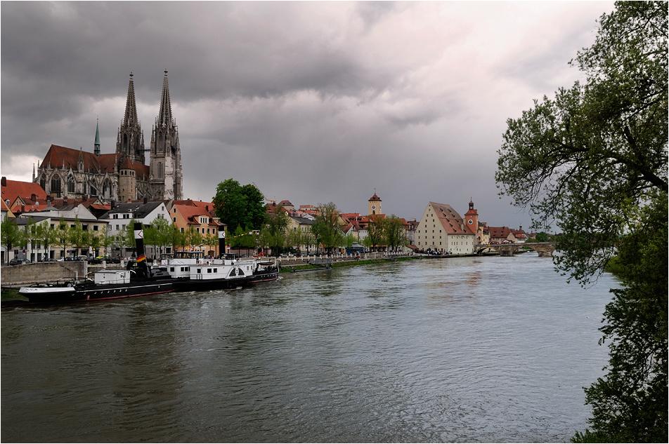 Dom und steinerne Brücke zu Regensburg