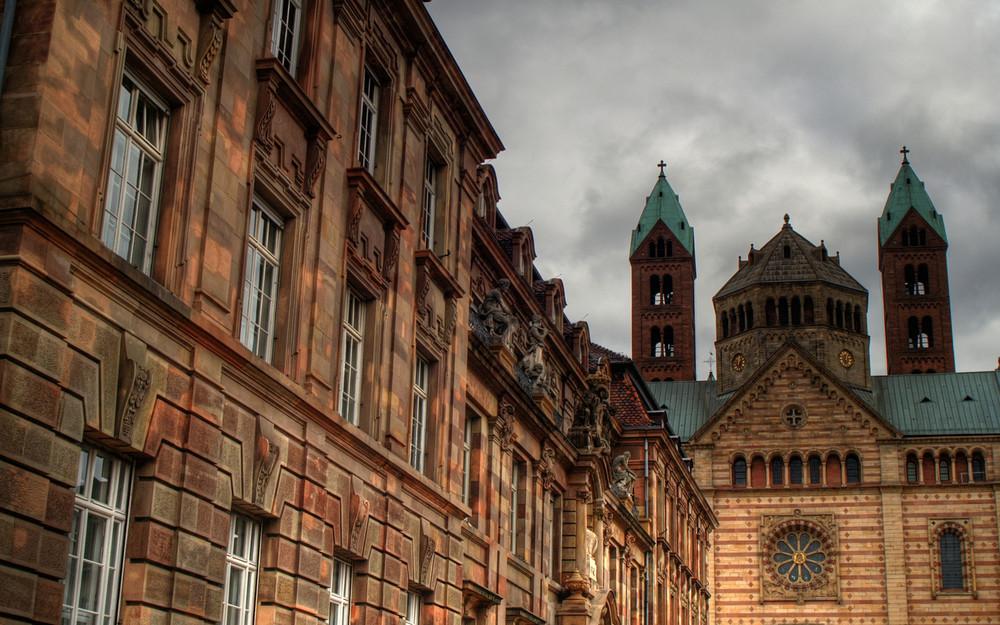 Dom zu Speyer und Stadthaus
