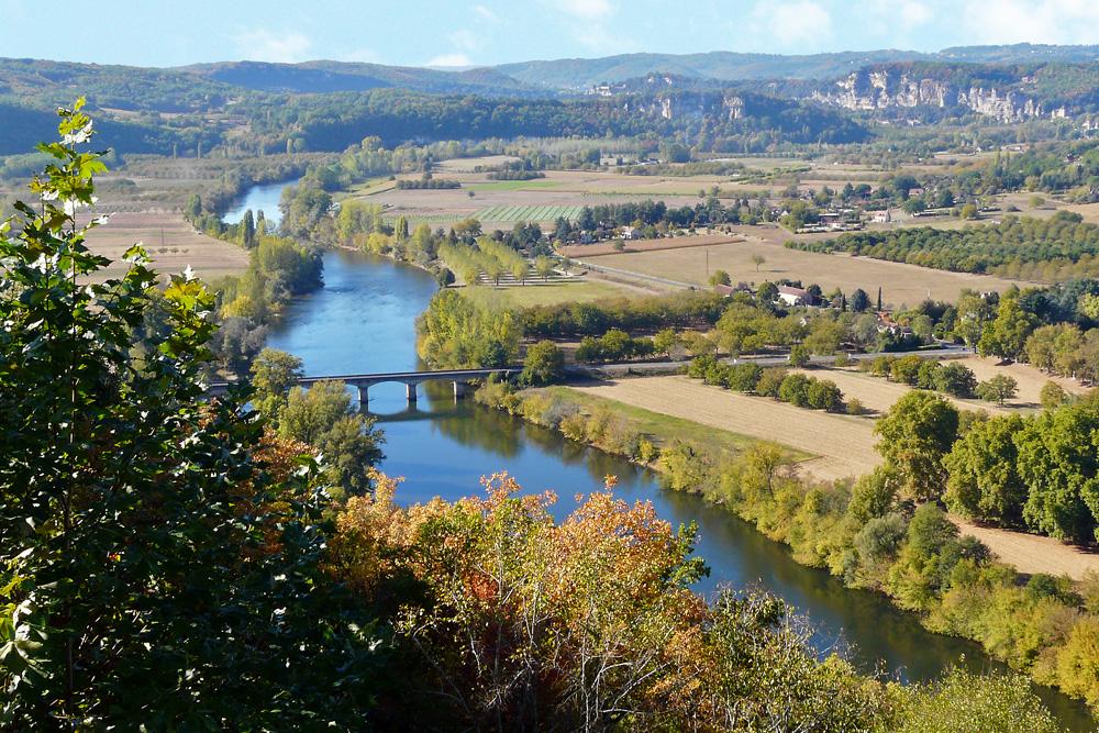 Domme - Panoramablick auf die Dordogne