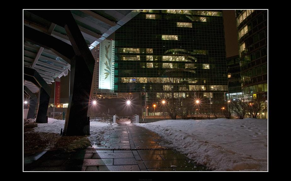 Donaucity bei Nacht