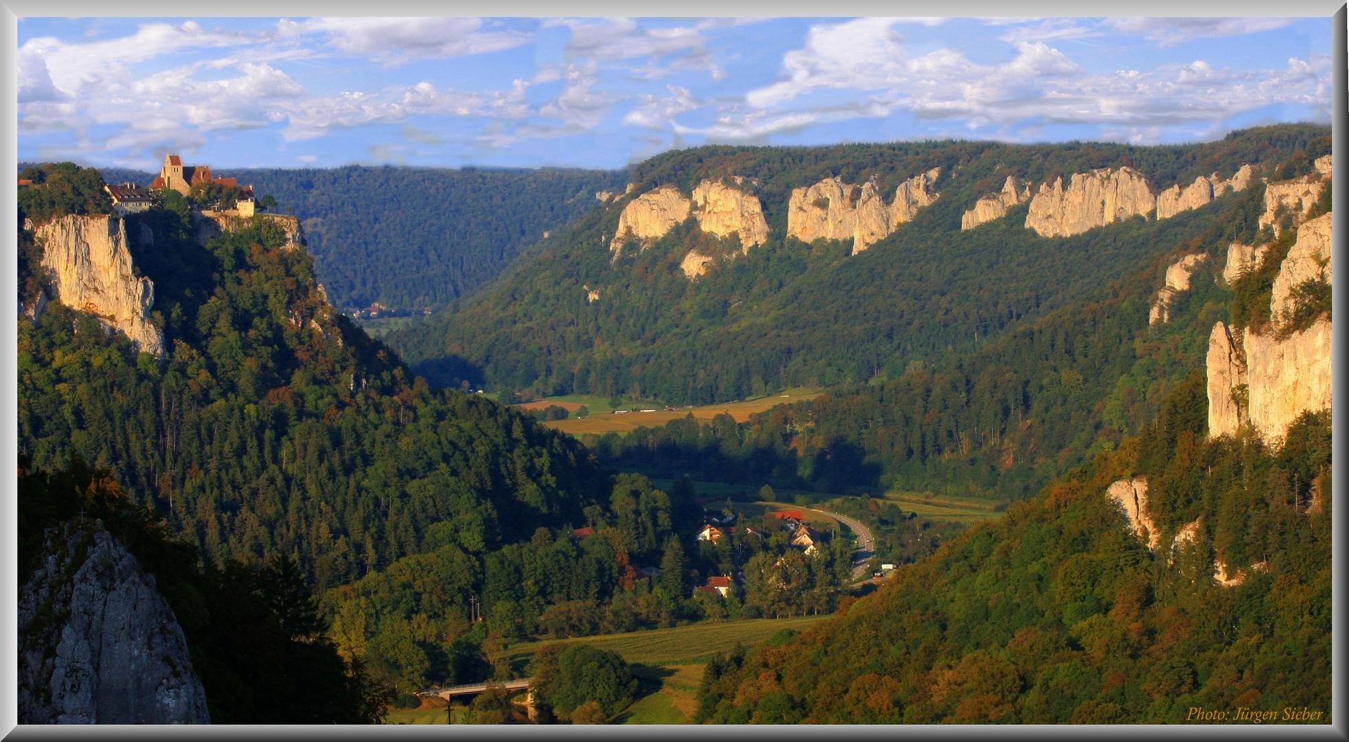 Donautal mit Burg Werenwag