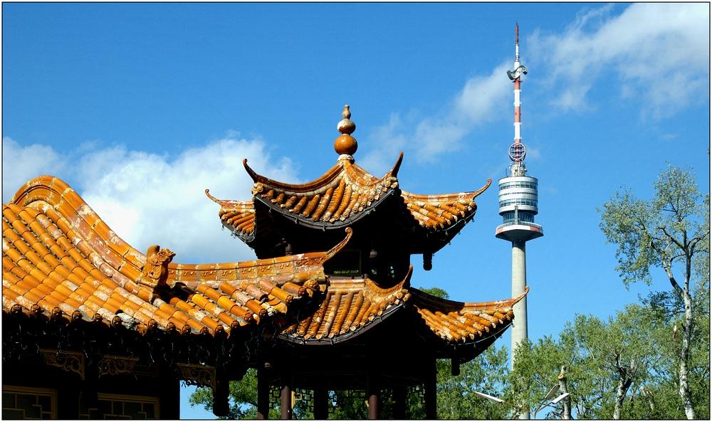 ... Donauturm und China-Food ...