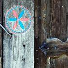 Door of rural house