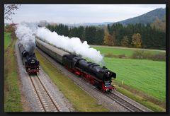 Doppelausfahrt Rottweiler Dampftage 2013 - kein Knaller...