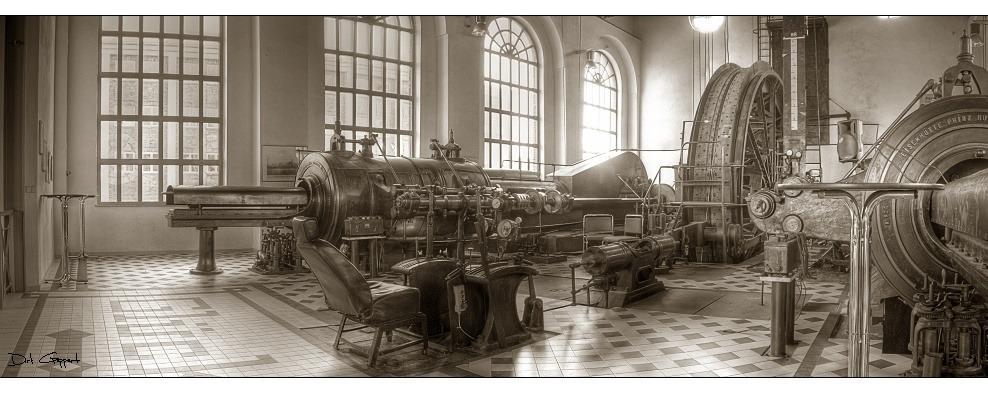 Doppelkolben-Dampfmaschine