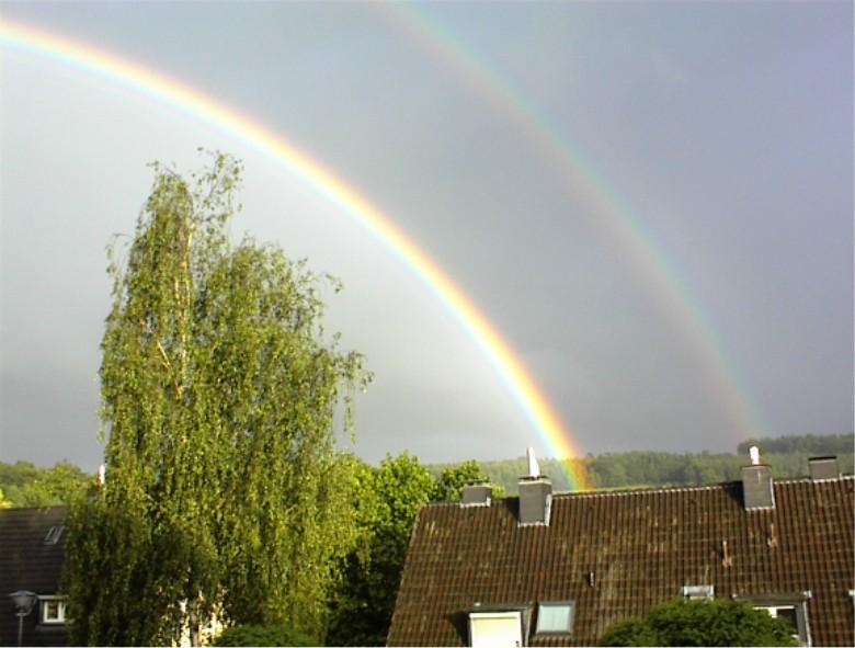 doppelter Regenbogen....
