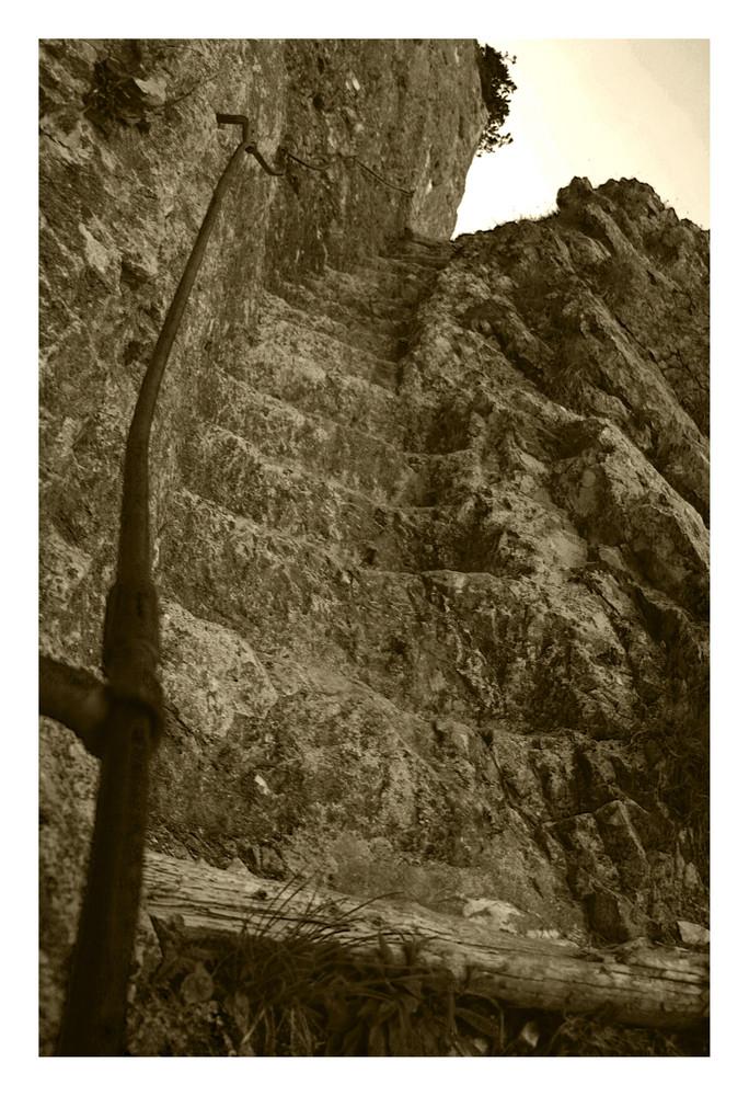 Dopplersteig den Untersberg hinauf