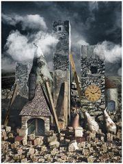 Dorf zwischen Steinen