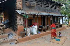 Dorfidylle in Bungkot bei Gorkha