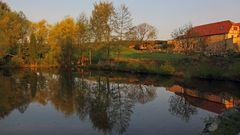 Dorfteich in Sürssen, einem eingemeindeten OT von Dohna...