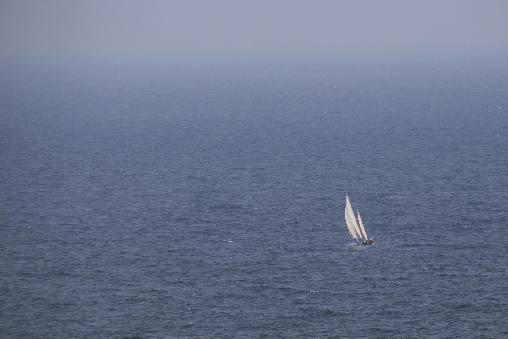 Dort wo der Horizont Sich mit dem Meer verbindet...