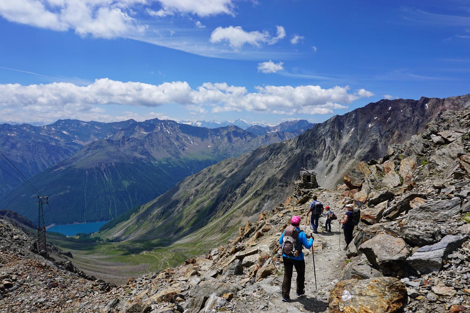Downhill heißt Abschied vom Gipfel....