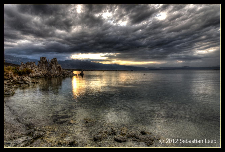 Downpour at Mono Lake