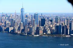 Downtown Manhattan aus der Luft