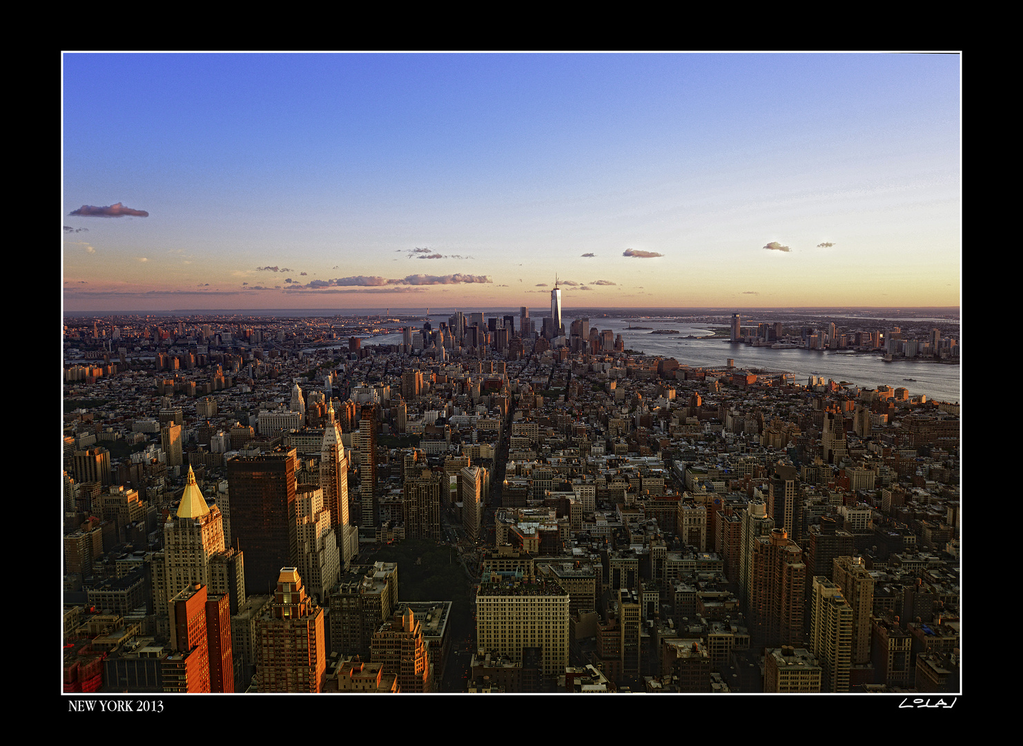 Downtown Manhattan from Empire State
