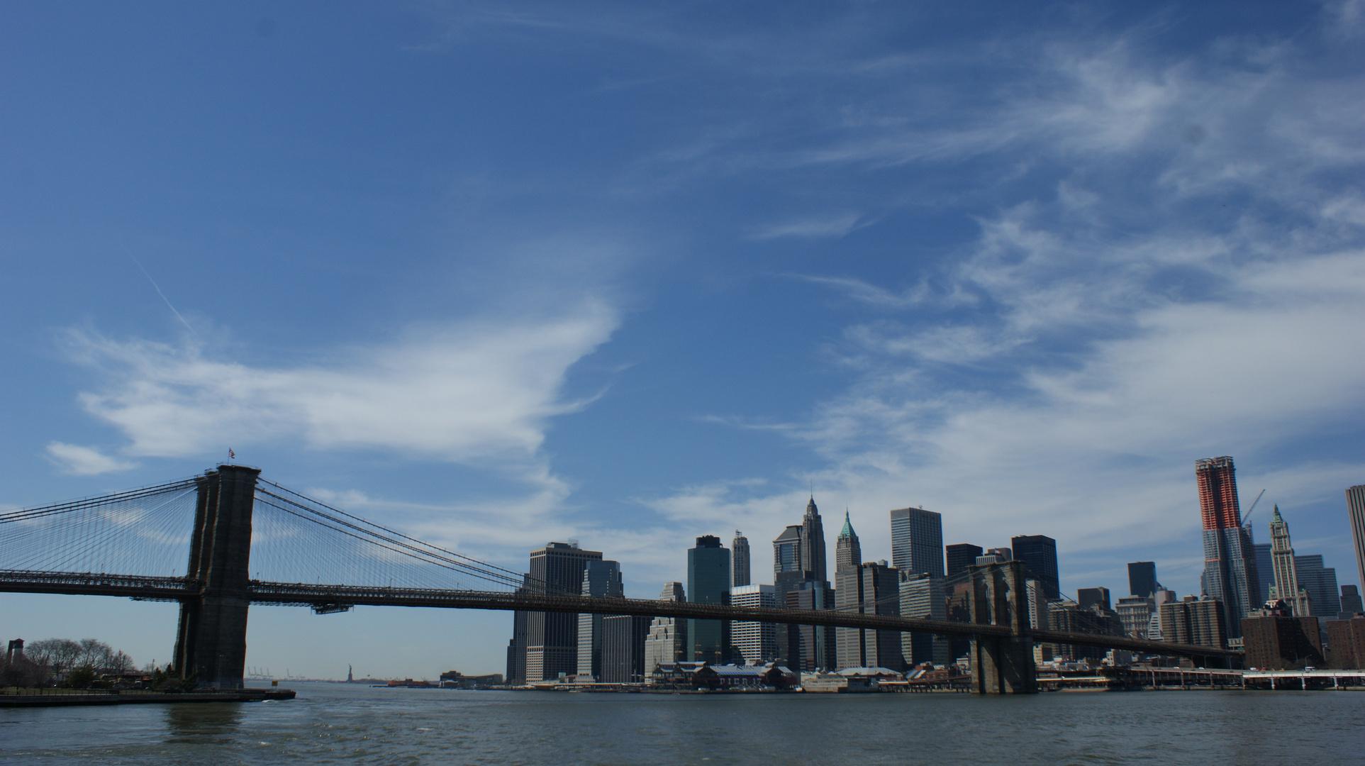 Downtown NY mit Brooklyn Bridge