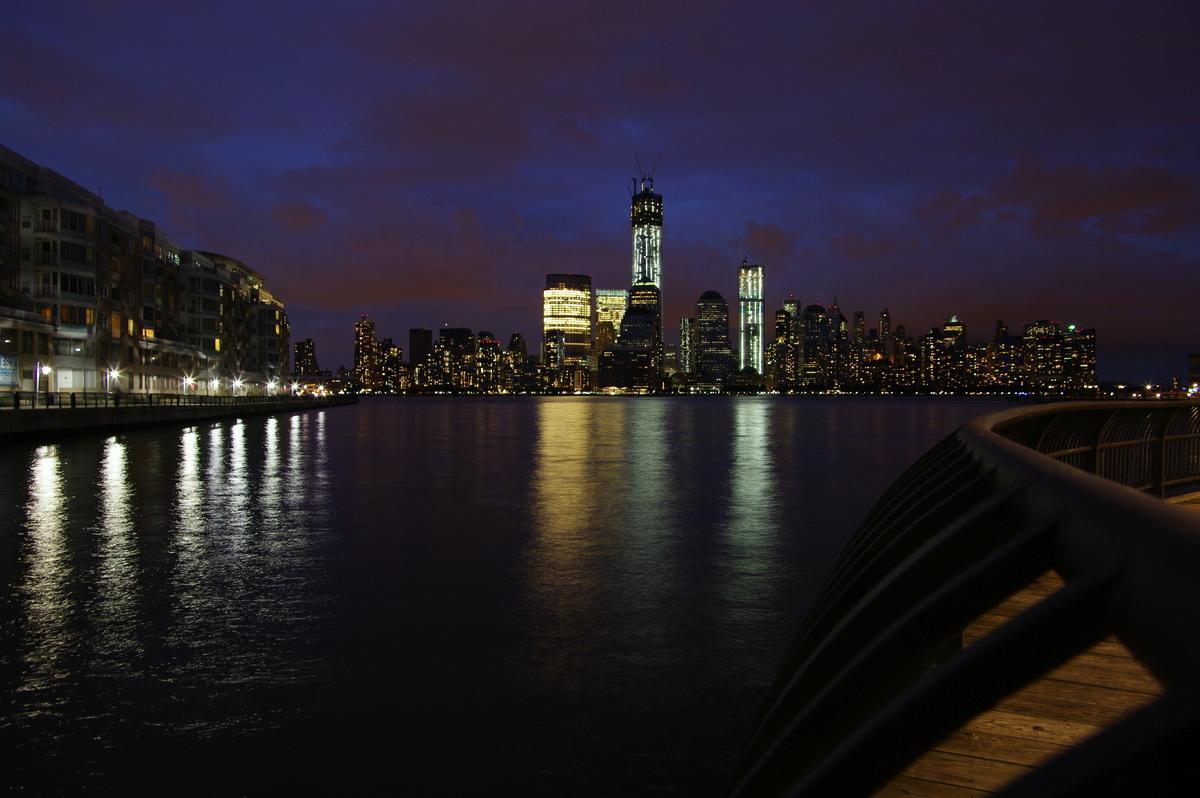 Downtown NY von NJ aus