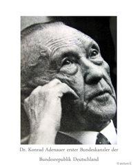 Dr. Konrad Adenauer erster Bundeskanzler der Bundesrepublik Deutschland