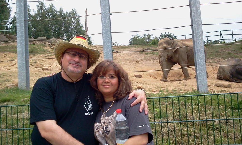 Dr. Norman Ali Khalaf und Ola Khalaf im Zoo Neunkirchen