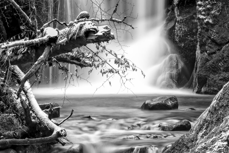 Drache am Wasserfall