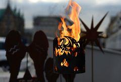 Drache im Feuer