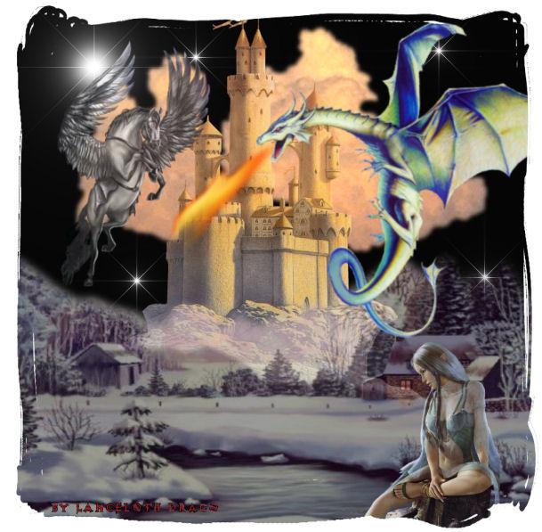 Drachen und Pegasus