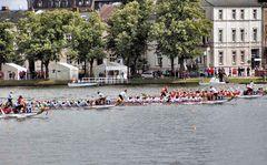 Drachenboote in Schwerin
