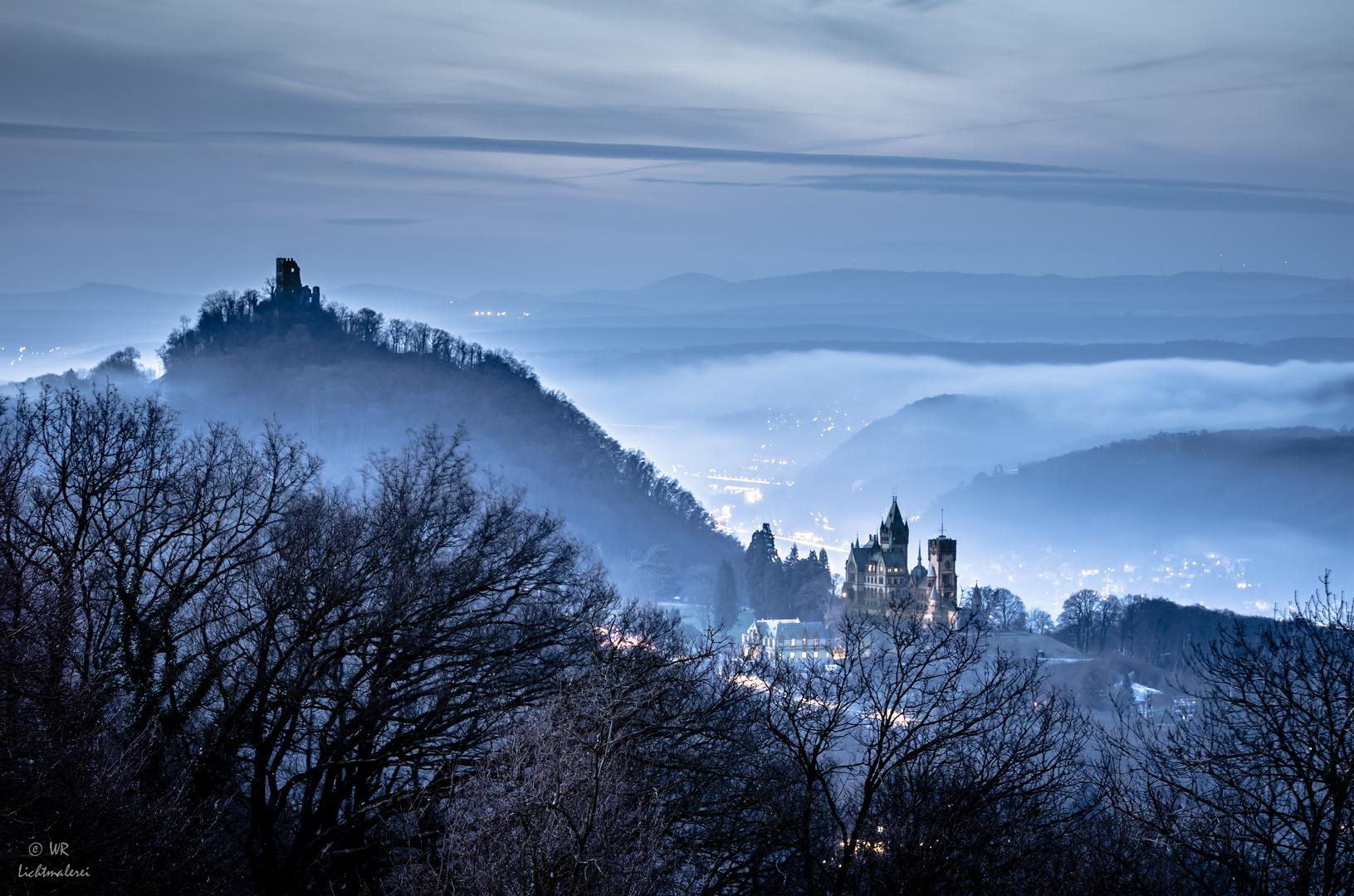 Drachenfels und Drachenburg