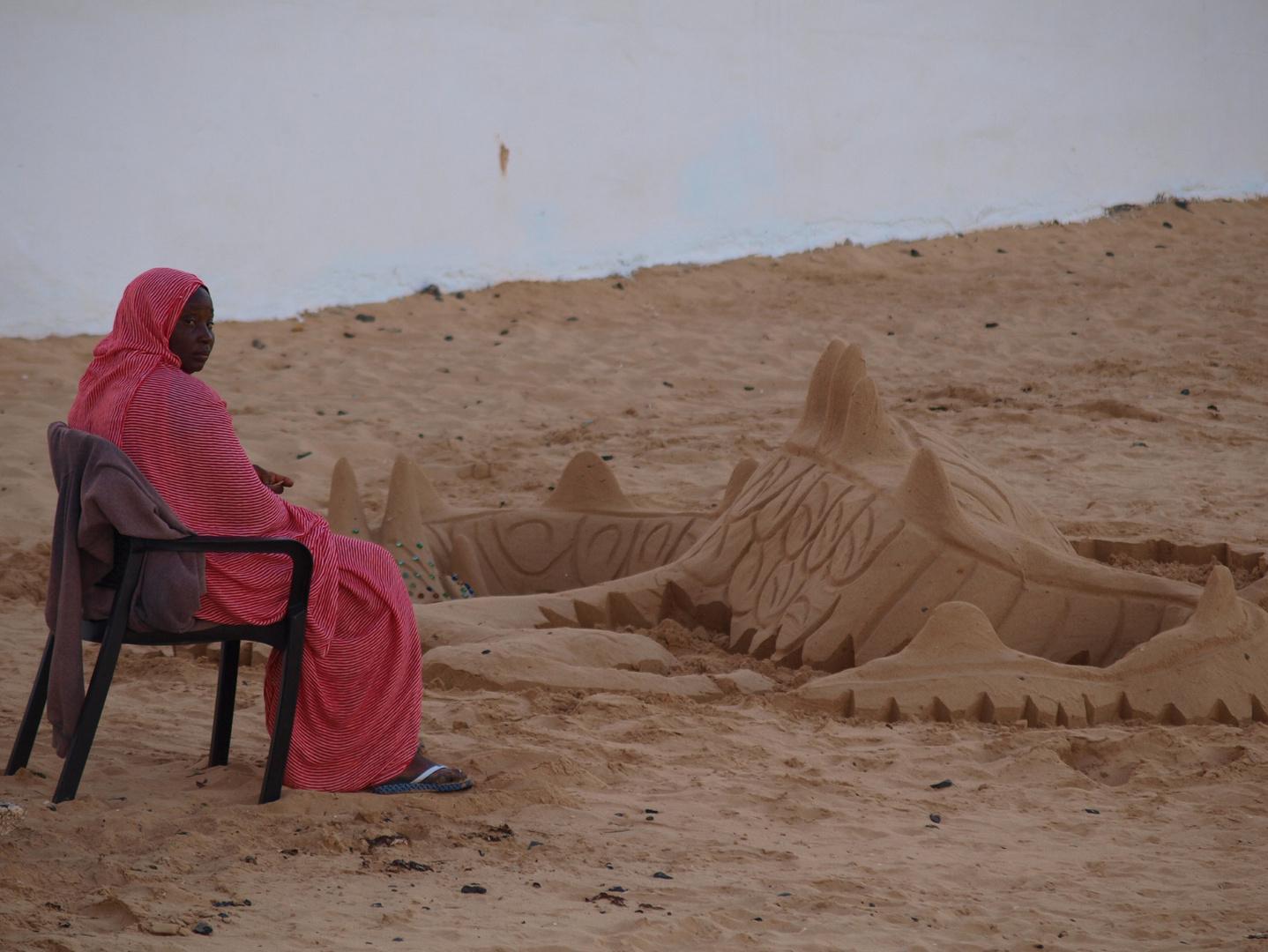 Drachenfrau am Strand