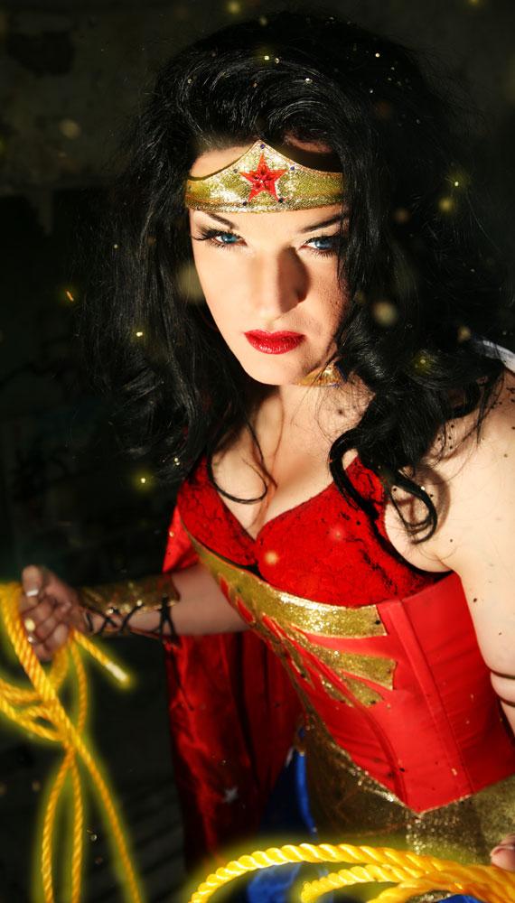 Drag Queen Sheila Wolf as Drag Wonder Woman