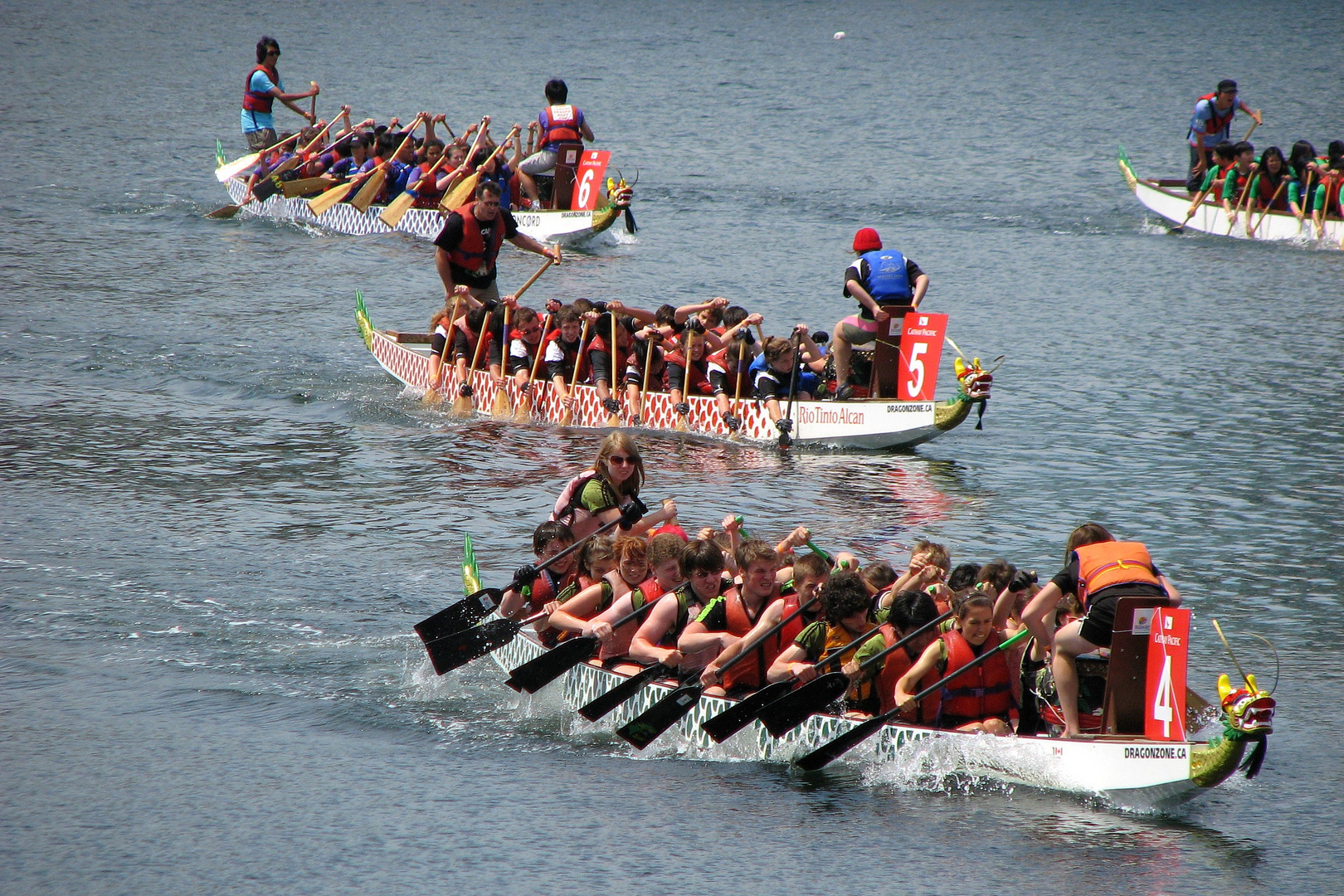 Dragon Boats in Action