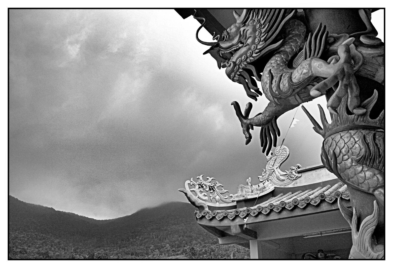 Dragon @ Chinese Temple in Koh Phangan