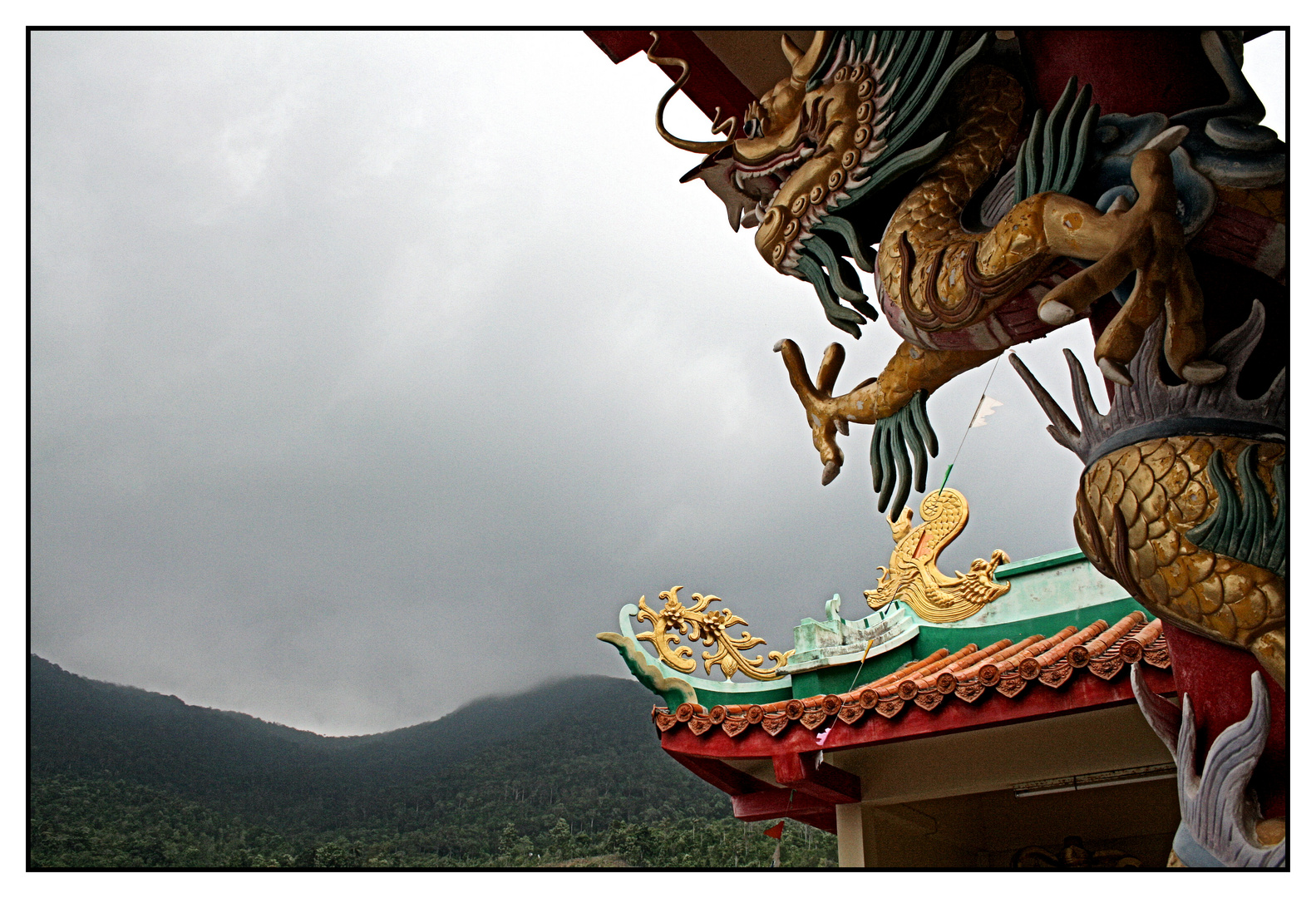 Dragon @ Chinese Temple in Koh Phangan Color