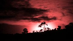 Dramatic moonset