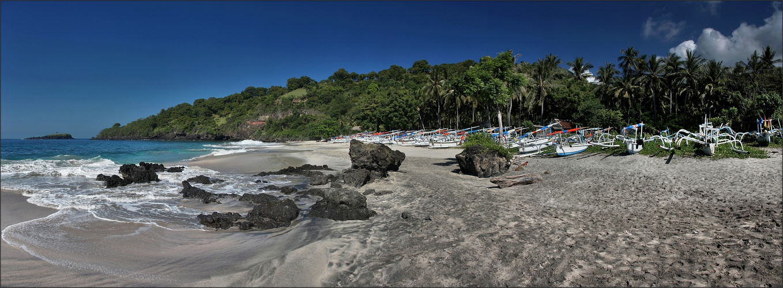 * Dream beach near Candi Dasa *