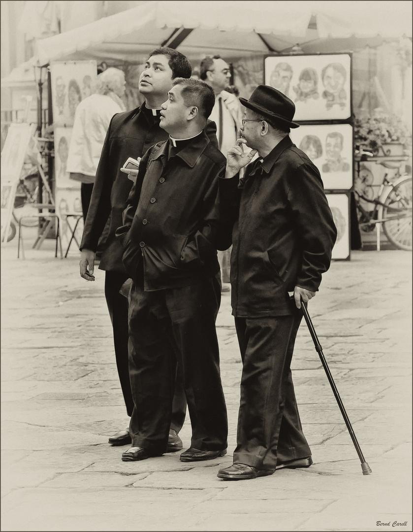 Drei auf dem Weg