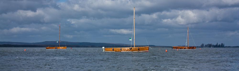 Drei Boote im Steinhuder Meer