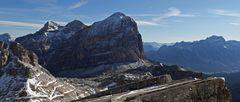 Drei große Dolomitenbereiche vom kleinen Lagazuoi