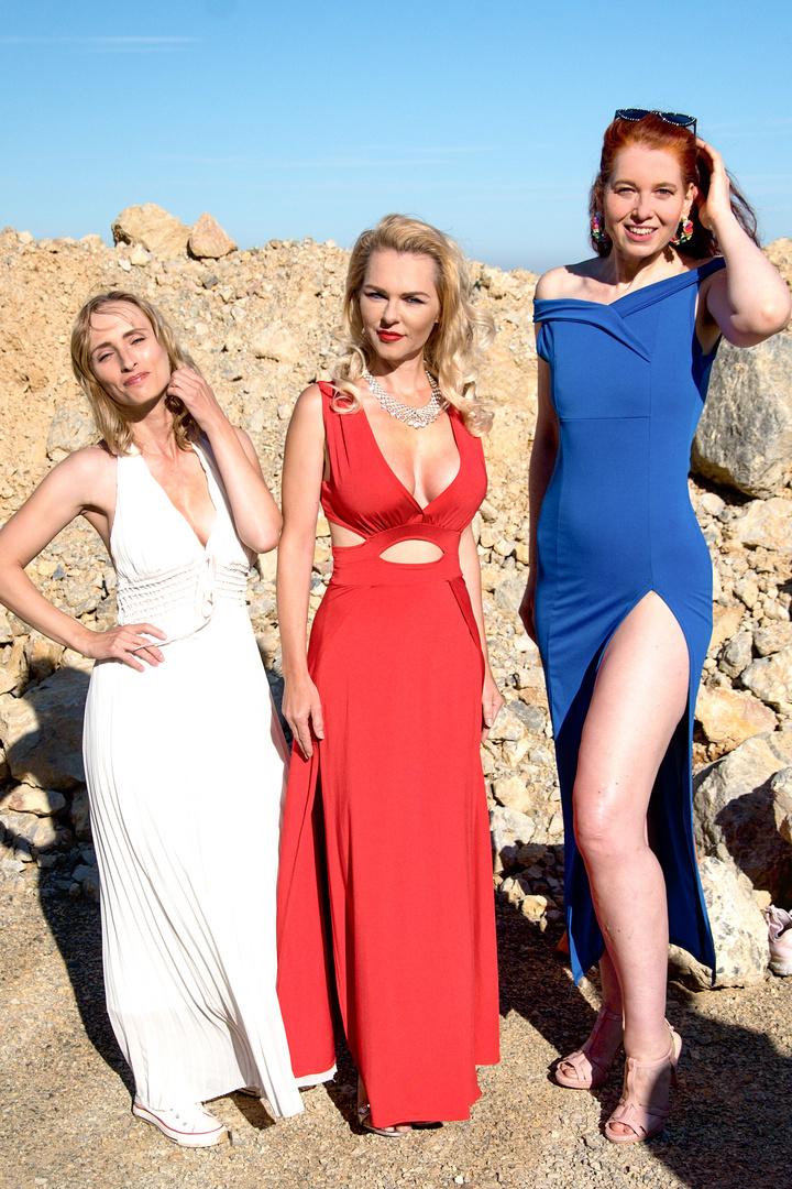 Drei Models; Veronika, Marina und Betty