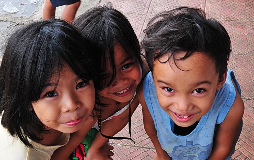 """ Drei süße, fröhliche Lächeln "" , Ibajay - Aklan - Panay 2009"