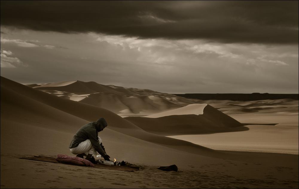 drei Tropfen in der Wüste