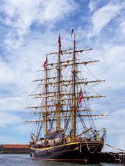 Dreimaster - dänisches Schulschiff