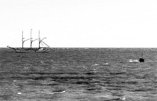 Dreimaster vor Helgoland