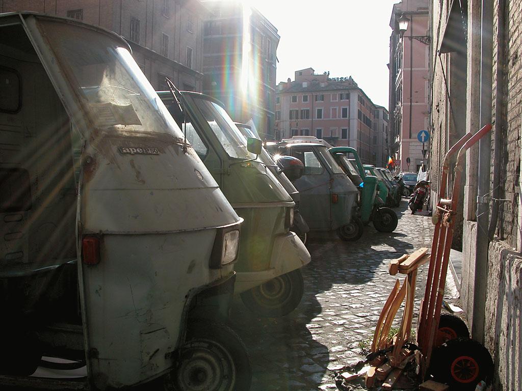 Dreiräder in Rom