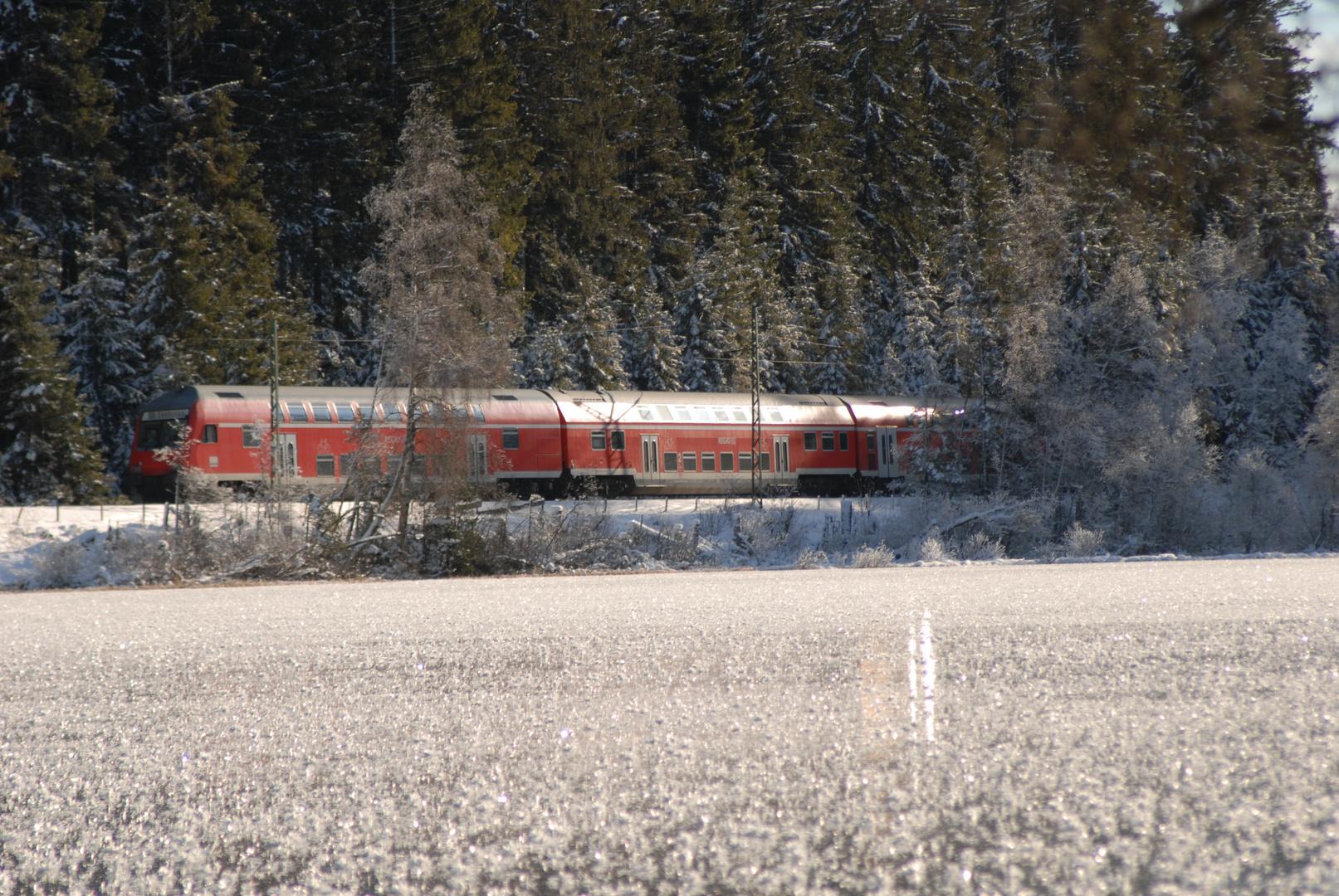 Dreiseenbahn im Winter