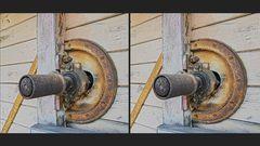 Dreschmaschinen Detail (3D)